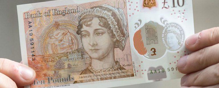 billetes de 10 libras británicas